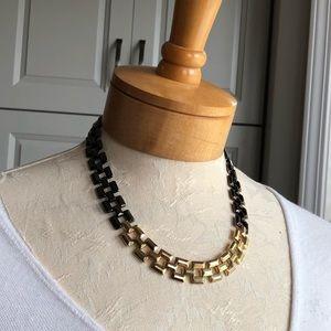 Vintage Avon Gold & Black Chain Link Necklace
